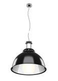 Lampada del soffitto del metallo isolata su fondo bianco 3d Fotografie Stock Libere da Diritti