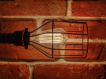 Lampada del sottotetto con le lampade di Edison Fotografia Stock Libera da Diritti