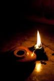Lampada dell'olio di oliva Fotografie Stock Libere da Diritti