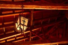 Lampada della chiesa Fotografie Stock