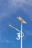 Lampada della pila solare sull'isola della Tailandia. Fotografia Stock Libera da Diritti