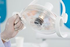 Lampada dentaria Fotografie Stock Libere da Diritti