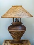 Lampada di bambù di vimini Immagine Stock Libera da Diritti