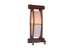 Lampada di bambù isolata Fotografie Stock