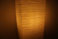 Lampada di carta attenuata - illuminazione accogliente Fotografia Stock