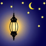 Lampada di celebrazione di Ramadan Kareem illustrazione di stock