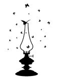 Lampada di cherosene Fotografia Stock Libera da Diritti