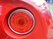 Lampada di coda italiana classica moderna della parte posteriore dell'automobile sportiva Immagine Stock Libera da Diritti