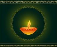 Lampada di Diwali Fotografia Stock