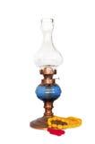Lampada di gas orientale dell'annata con il rosario turco Fotografie Stock Libere da Diritti