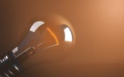 Lampada di Lit Fotografia Stock Libera da Diritti