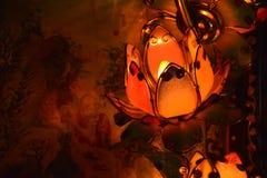 Lampada di Lotus in un tempio Fotografie Stock