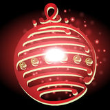 Lampada di Natale con il Natale fondo ed il vettore della cartolina d'auguri Illustrazione Vettoriale