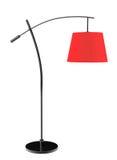 Lampada di pavimento equilibrata rossa Fotografie Stock