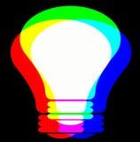 Lampada di RGB immagine stock