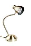 Lampada di scrittorio metallica, oggetto isolato Fotografia Stock Libera da Diritti