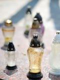 Lampada di vetro della candela Fotografie Stock