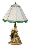 Lampada di vetro macchiato isolata Fotografie Stock