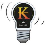 Lampada di vettore con il segno di valuta - kip Laos, LAK illustrazione vettoriale