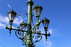 Lampada di via di Budapest Fotografie Stock