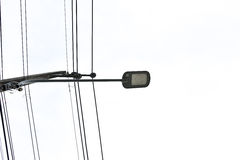 Lampada di via moderna del LED Immagine Stock