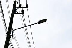 Lampada di via moderna del LED Fotografia Stock