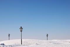 Lampada di via nel parco Fotografia Stock