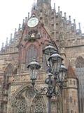 Lampada di via a Norimberga, Germania immagine stock libera da diritti