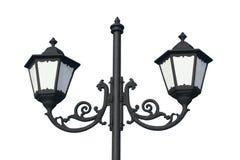 Lampada di via tradizionale - isolata Fotografia Stock