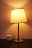 Lampada e tazza di lettura Immagine Stock