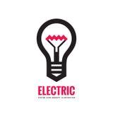 Lampada elettrica - vector l'illustrazione di concetto del modello di logo Segno creativo della lampadina royalty illustrazione gratis