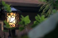 Lampada esteriore della posta della casa Fotografie Stock Libere da Diritti