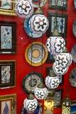 Lampada fatta a mano persiana tradizionale immagini stock