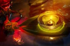 Lampada felice di notte di diwali Fotografie Stock