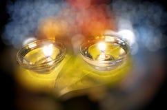 Lampada felice 2014 di notte di diwali Immagine Stock