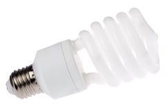 Lampada fluorescente isolata su bianco Immagini Stock