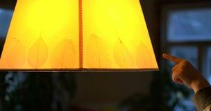 Lampada gialla Immagini Stock Libere da Diritti