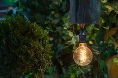 Lampada gialla della lampadina Fotografia Stock
