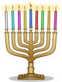 Lampada Hanukkiah di Chanukah Fotografia Stock