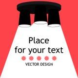 Lampada Icona della lampadina Posto per il vostro testo royalty illustrazione gratis