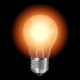 Lampada illuminata Immagine Stock