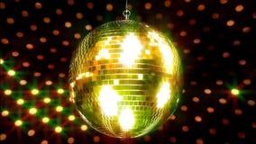 Lampada lampeggiante scintillante variopinta incredibile della luce intensa della palla funky della discoteca del club del partit archivi video