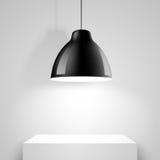 Lampada nera del soffitto Vettore Fotografie Stock