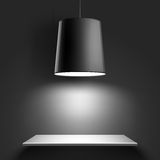Lampada nera del soffitto Vettore Fotografia Stock Libera da Diritti