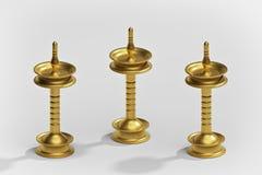Lampada a olio d'ottone indiana rappresentazione 3d illustrazione vettoriale