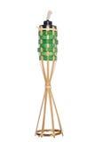 Lampada a olio di bambù della torcia Fotografie Stock