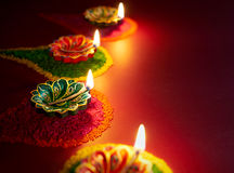 Lampada a olio di Diwali immagine stock libera da diritti