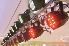 Lampada principale del club della luce di spettacolo di illuminazione della fase fotografie stock libere da diritti