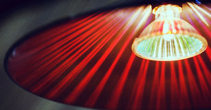 Lampada rossa Fotografia Stock