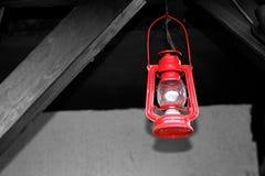 Lampada rossa Fotografia Stock Libera da Diritti